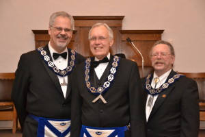 Senior Warden - Dave Brown, Master - Bill VanCleave, Junior Warden- Rick Dustaco